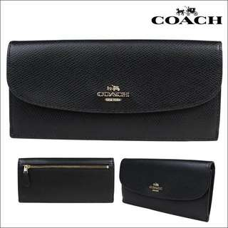 Coach Wallet F54008 black 黑色