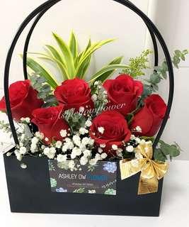 Flowers rose flower bag