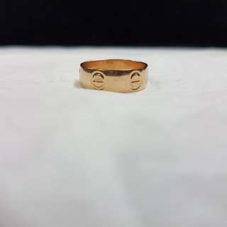 Cartier ring rosegold 14k (3.7 grams)