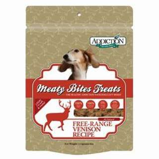 Addiction Meaty Bites Venison (for dog) 8oz