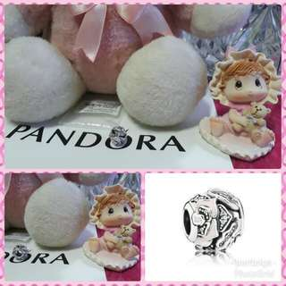 Pandora Pink Enamel and Clear CZ Delicate Rose Charm