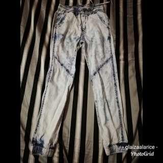 H&M acid wash loose fit pants (soft material)