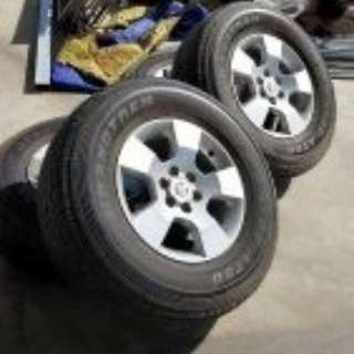 Navara tire and sport rim