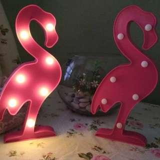 lampu hias flamingo neon light