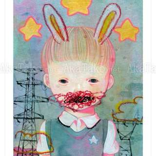 Hikari shimoda 下田光 Limited Print - Power Line & Rabbit (Secret)""