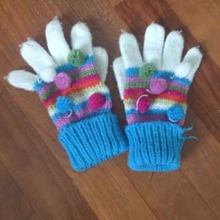 🍎colourful Kids Winter Gloves