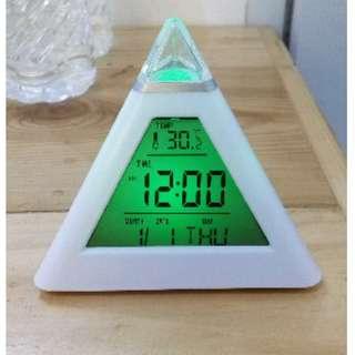 Jam weker Moody Clock Berubah 7 Warna Pengukur suhu - HPR271