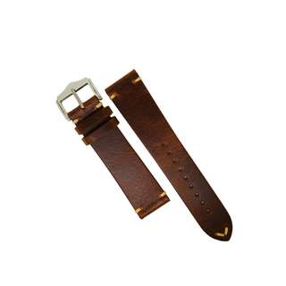Vintage Premium Oil Waxed Leather Watch Strap in Tan (20 and 22mm)
