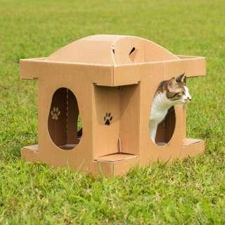 🚚 半價![喵屋]搖籃喵屋 貓窩 貓抓板 貓隧道