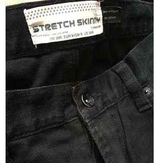 Topman Stretch Skinny Black Jeans (Harga Asli 500k)
