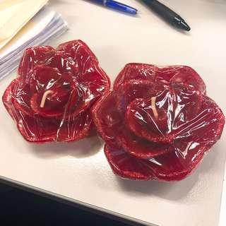 浪漫情人節玫瑰畫蠟燭 Rose Cane x2 適合燭光晚餐