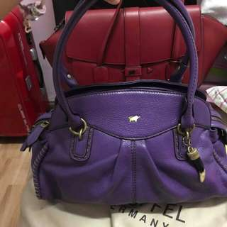 Braun buffel purple handmade