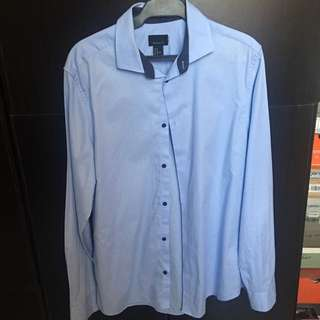Slightly Used H&M long-sleeved Polo (light blue)