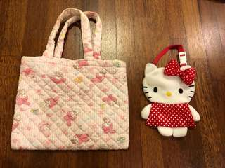 My melody and hello kitty bags