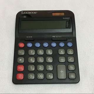 CLEARANCE SALES {Stationary - Calculator} Pre-owned LEXIBOOK Brand 12-DIGIT Solar Calculator