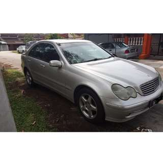 Great Condition - 2002 Mercedes Benz C200 2.0 (A)