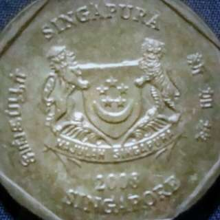 Singapore old coin