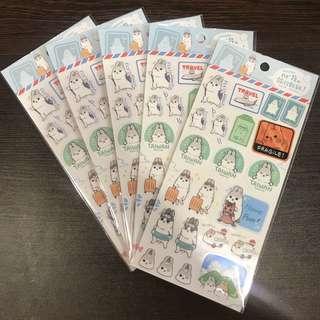 ㄇㄚˊ幾兔 透明貼紙(旅行)麻幾兔 麻吉兔 台灣 machiko yukiji