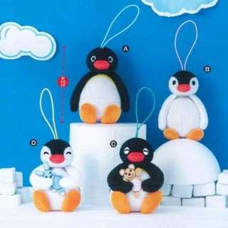 2018年9月 furyu 景品 pingu 企鵝公仔吊飾
