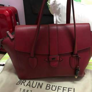 Braun buffel red handmade