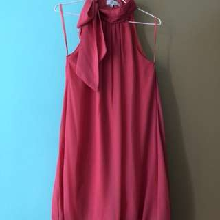 Halter Neck Dress with Bubble Skirt