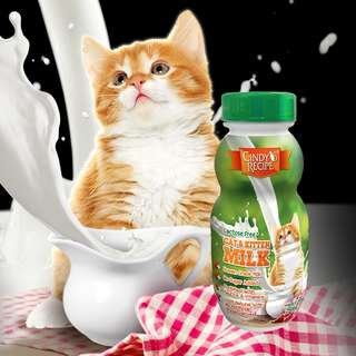Cindys Recipe Low Lacose Cats & Kitten Milk 250ml $8.50/3bottles OR $30/12bottles