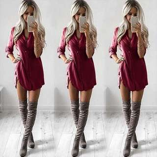 ladies casual long sleeve dress