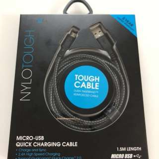 Energea NyloTough Micro-USB Quick Charging Cable 1.5m