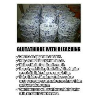 Glutathione with bleaching soap
