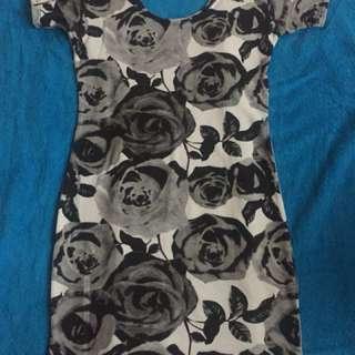 Black Roses Bodycon dress