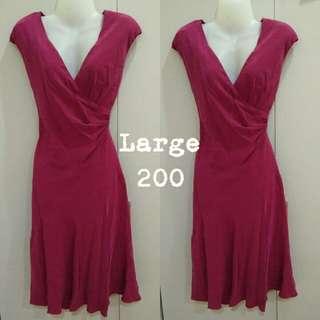 velvety wrap dress