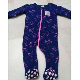 Baby Berry Sleepsuit (Navy) Unicorn