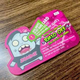 Custom Die Cut Name Card
