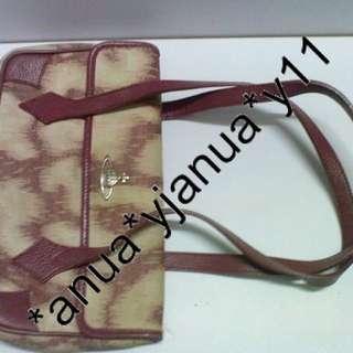 (二手品) 最後劈價 $250 真品 Vivienne Westwood bag 桃紅手袋 抵玩 平過買銀包