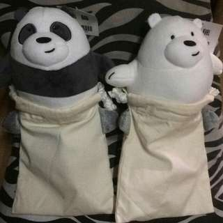 We Bare Bears (ice bear and Pan pan)