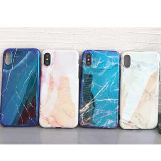 手機殼IPhone6/7/8/plus/X : 簡約大理石紋