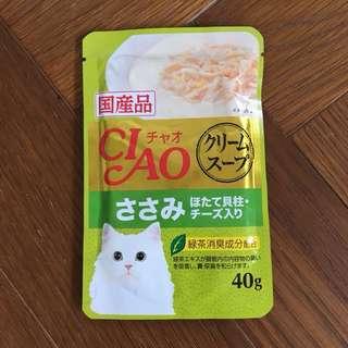 日本CIAO貓餐包起司雞胸肉(共14包不拆售)
