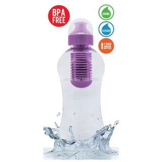 LIZGN - Filter Water Bottle - BPA FREE - 533ml - Purple