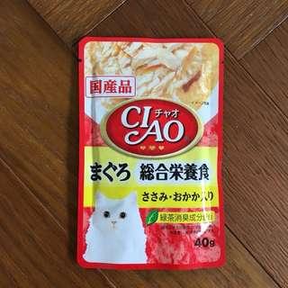 日本CIAO貓餐包鮪魚(共4包不拆售)