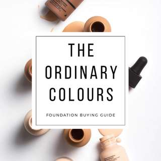 The Ordinary Colours Foundation