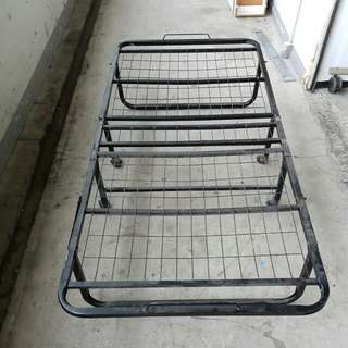 Foldable Single Bed Frame with Single Bed @ $50