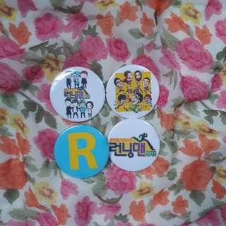 RunningMan Button Badges