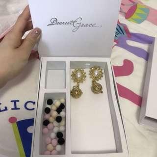 Dearest Grace DG018 耳環 王君馨品牌 結婚物品 婚後物資