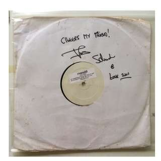Vintage Vinyl Disc/Record with Autograph by Dj Thomas Schumacher @ Zouk 2001