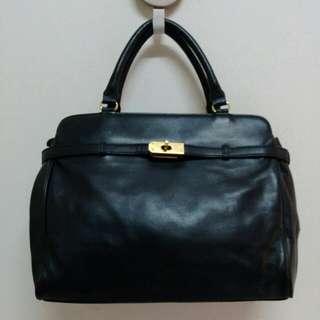 Black  Kelly Genuine Leather Handbag
