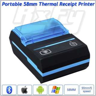 Handheld Mobile Portable POS Bluetooth Thermal Receipt Printer 58mm Android iOS PC 18650 battery