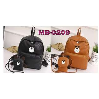 CODE: MB-0209 2in1 Bear Backpack (REPRICE)