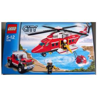 LEGO City 城市系列 7206 Fire Helicopter (全新 絕版 未開 MISB 與 60104 60110 60167 10197 共融)