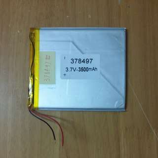 378497 3500mah 聚合物鋰電池