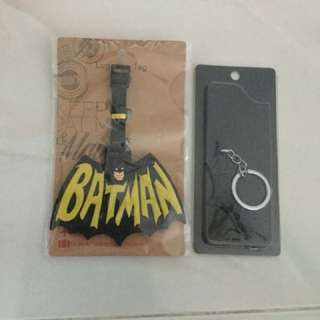 Batman Luggage Tag and keychain